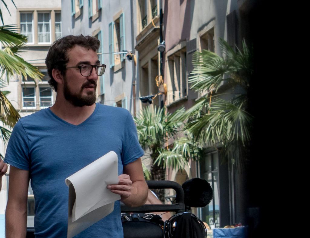 Photo de Nicolas sur un tournage
